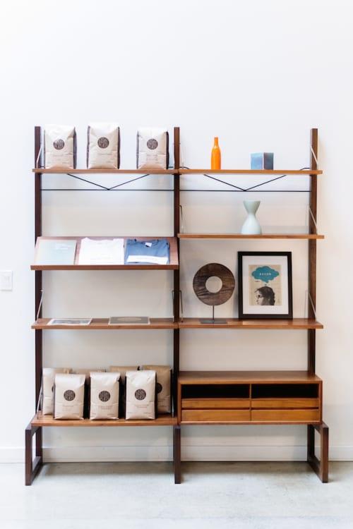 Furniture by Poul Cadovius seen at Vive La Tarte, San Francisco - Teak Wall Unit