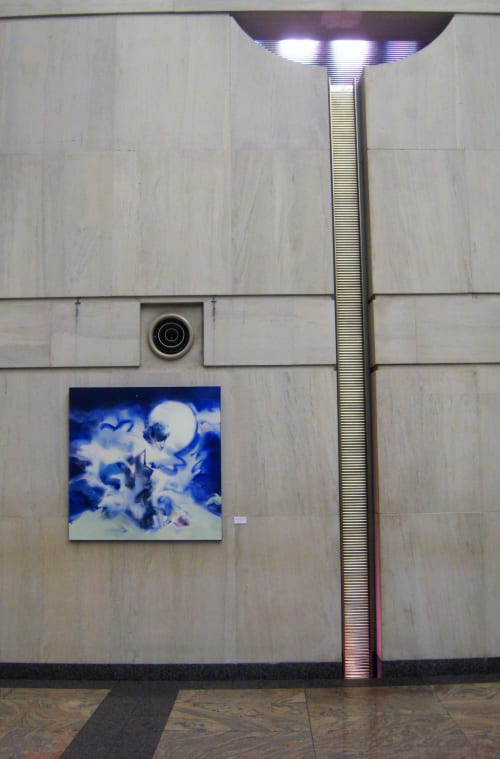 Paintings by Ritchard Rodriguez seen at 4 Times Square fka Condé Nast Building, New York - Passion Nocturnale (for Gene C.)