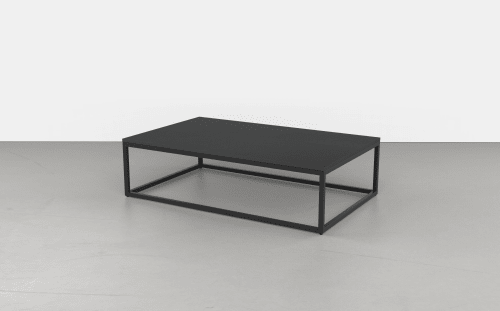 Tables by Uhuru Design at Independent Lodging Congress, in the William Vale NYC, Brooklyn - Rectangular Coffee Table  (black oak)