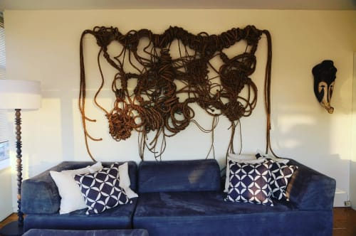 Macrame Wall Hanging by Susan Beallor Snyder seen at Private Residence, New York - Bundles of Joy