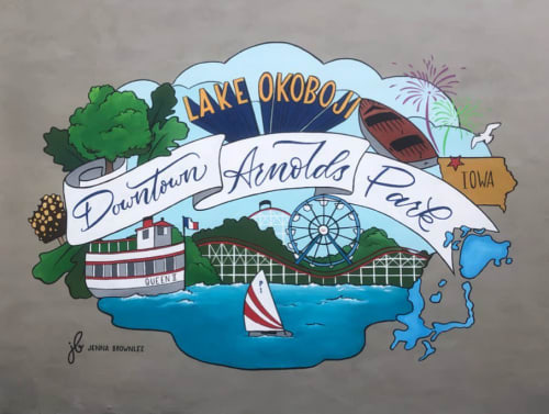Okoboji Mural | Murals by Jenna Brownlee