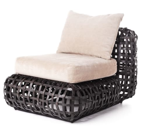Chairs by Kenneth Cobonpue at Casa Millas, Puerto Vallarta, Mexico, Puerto Vallarta - Matilda Easy Armchair and Easy Chair