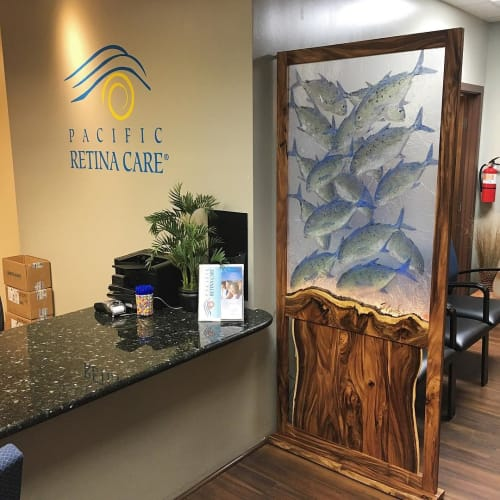 Art & Wall Decor by DG Woodwork seen at Pacific Retina Care, Waipahu - Custom Divider