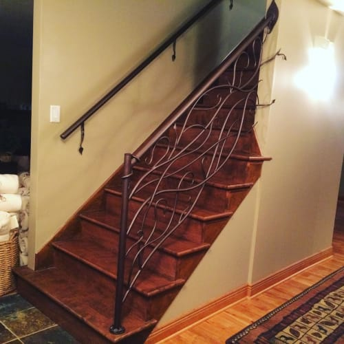 Hardware by Iron Mountain Forge & Furniture seen at Private Residence, Providence - Vine & Leaf Railing