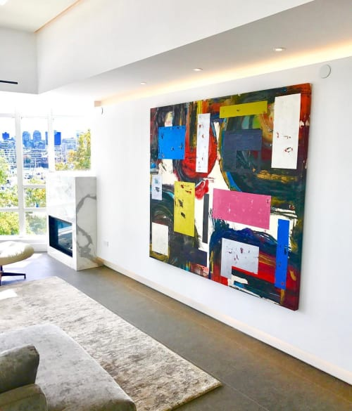 Paintings by Carla Tak seen at Marinaside Crescent, Vancouver - Abstract Painting