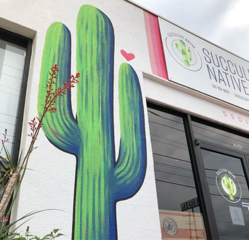 Murals by Art by Alicia Silvestri at Succulent Native, Austin - Mural
