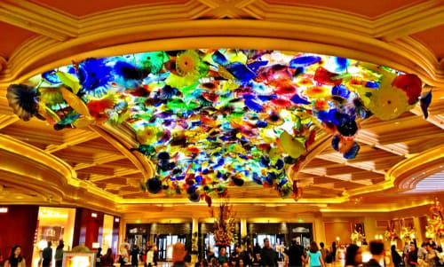 Sculptures by Dale Chihuly seen at Bellagio, Las Vegas - Fiori di Como