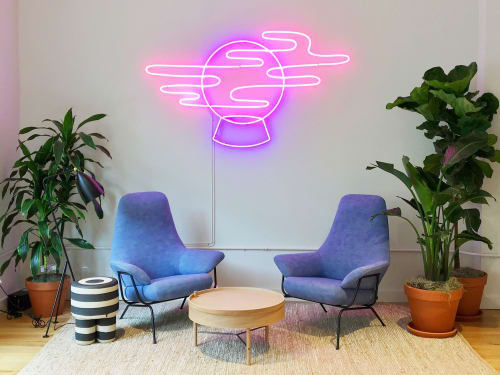 Murals by Sidney Howard seen at WeWork, New York - Crystal Ball