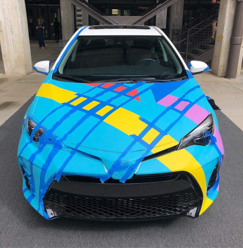 Toyota Corolla Mobile Mural | Murals by Teddy Kelly | Ponce City Market in Atlanta