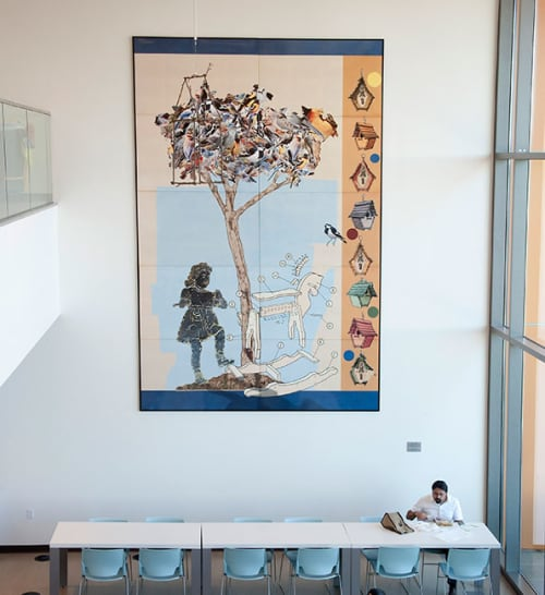 Art & Wall Decor by Lynn Criswell seen at Zev Yaroslavsky Family Support Center, Los Angeles - Future Memories