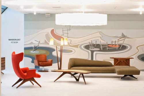 Murals by Jeff Quinn seen at Ralph Pucci, Los Angeles - Wanderlost