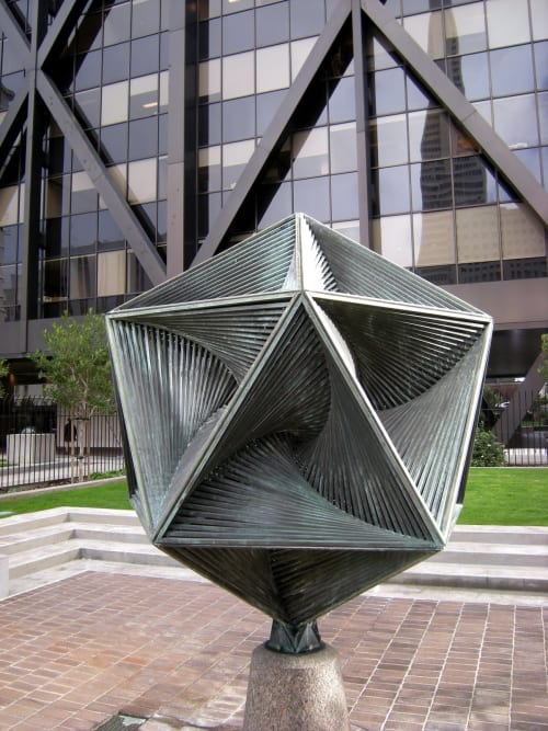 Sculptures by Charles Perry seen at One Maritime Plaza, San Francisco - Icosaspirale