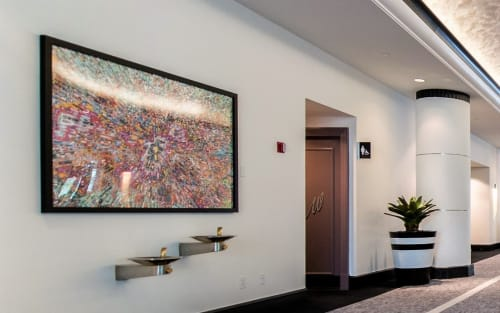 Paintings by David Allan Peters seen at Loews Miami Beach Hotel, Miami Beach - Acrylic Painting