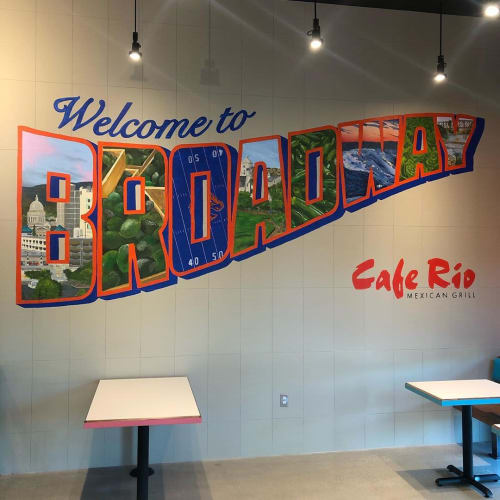 Murals by Josh Scheuerman seen at Cafe Rio Mexican Grill, Boise - Cafe Rio Mural