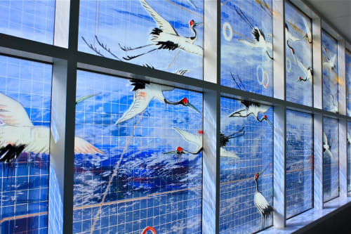 Murals by Hung Liu seen at Oakland International Airport, Oakland - Going Away, Coming Home