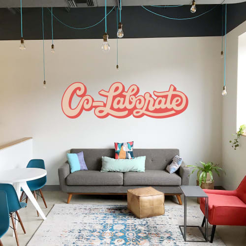Murals by Ecker Design Company seen at Co_Lab Workspace, Baltimore - Co_Lab Mural
