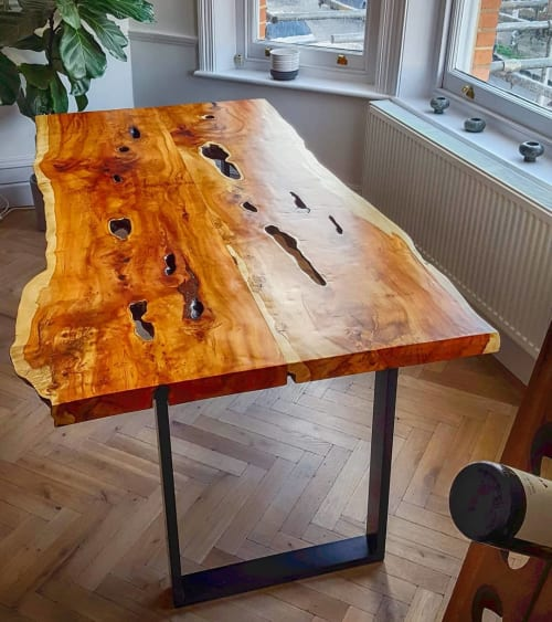 Tables by Handmade in Brighton seen at Private Residence, London - English Yew Table