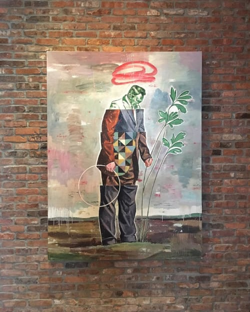 Paintings by Nicky Nodjoumi seen at The Vine, New York - Painting