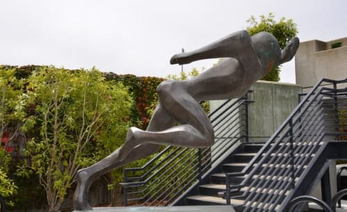 Sculptures by Edith Peres-Lethmate seen at University of San Francisco, Koret Health and Recreation Center, San Francisco - Sprinter at the Koret
