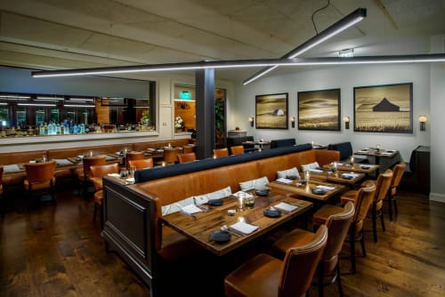 Chandeliers by CP Lighting at Eastend Restaurant, Greenwich - Custom Lighting