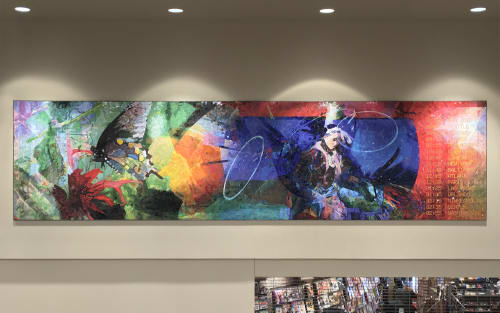 Murals by Scott Parsons seen at Sioux Falls Regional Airport, Sioux Falls - Flights of Fancy