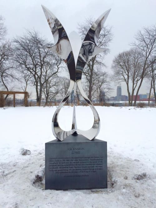 Public Sculptures by SoulArt seen at Habitat for Humanity of Kent County, Grand Rapids - Ascension