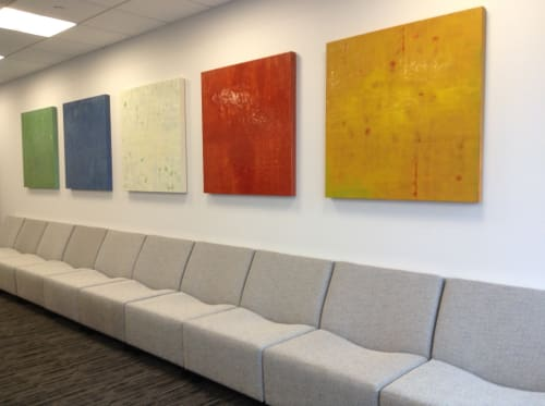 Paintings by Tracey Adams at Washington Prime Group Inc., Columbus - Ikat 1-6