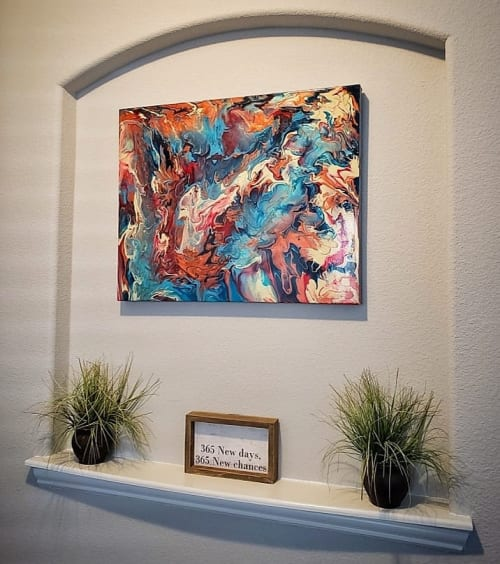 Paintings by Soulscape Art seen at Private Residence, Dallas - 'Orion's Gate' Painting