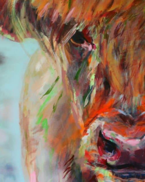Paintings by Liesbeth Serlie seen at Private Residence, Brakel - Highland Cow Painting