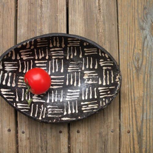 Ceramic Plates by Hartsoe Pottery seen at Hartsoe Pottery Studio, Asheville - Oval Tray