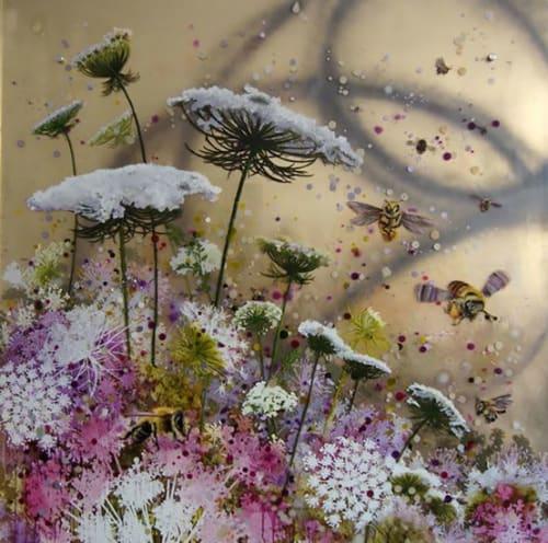 Pollination Series | Paintings by Cara Enteles Studio