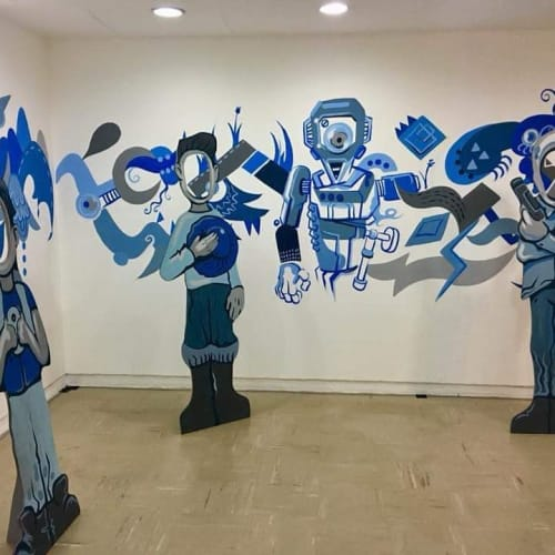 Murals by Rai Cruz seen at Cultural Center of the Philippines, Pasay - Artwork