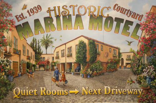 Signage by Jennifer Ewing at Marina Motel, San Francisco, CA, San Francisco - Marina Motel Vintage Style Sign