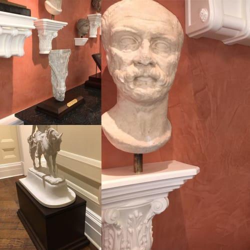 Art & Wall Decor by Martin&Martin Design seen at Private Residence, Dallas - Stone Sculpture Installation