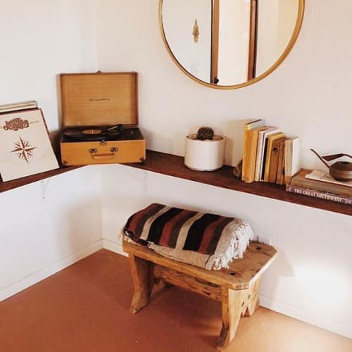 Appliances by Crosley seen at The Joshua Tree Casita, Joshua Tree - Crosley X UO Keepsake Wood Portable USB Vinyl Record Player