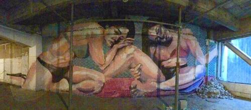 Murals by Mika Revell Fine Art X Little Pink Pills seen at Tokyo Denki University, Tokyo Senju Campus, Adachi City - Mural