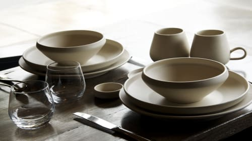 Tableware by Jereds Pottery at Gioia Pizzeria SF, San Francisco - Custom Dinnerware