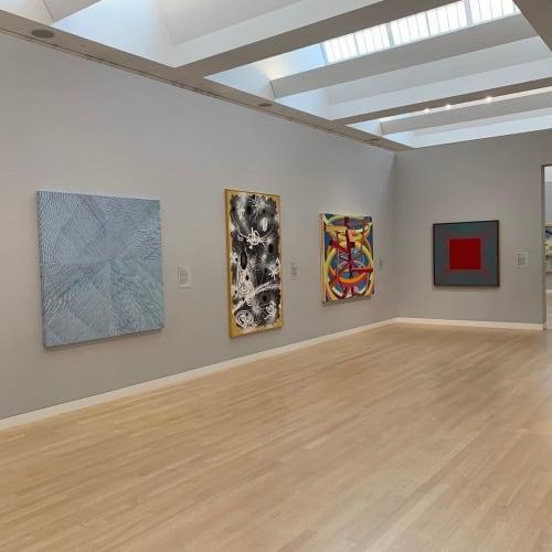 Paintings by Mel Prest seen at Crocker Art Museum, Sacramento - Blue Morning Glory