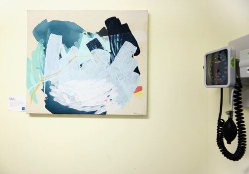 Paintings by Heather Day seen at Hospital for Special Surgery, New York - Bright #2