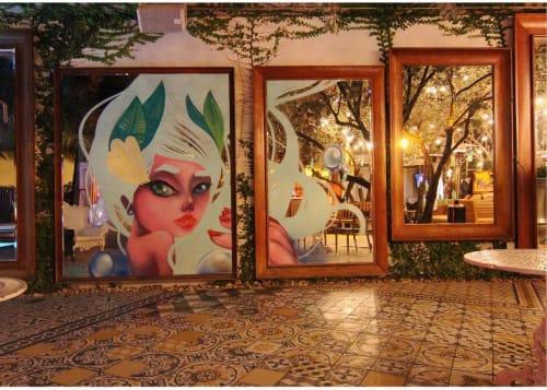 """Murals by Yuhmi Collective seen at SLS South Beach, Miami Beach - """"Sun-kissed"""""""