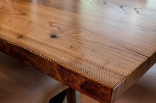 Tables by Wane + Flitch seen at Private Residence, Tacoma - Live Edge Elm Dining Table