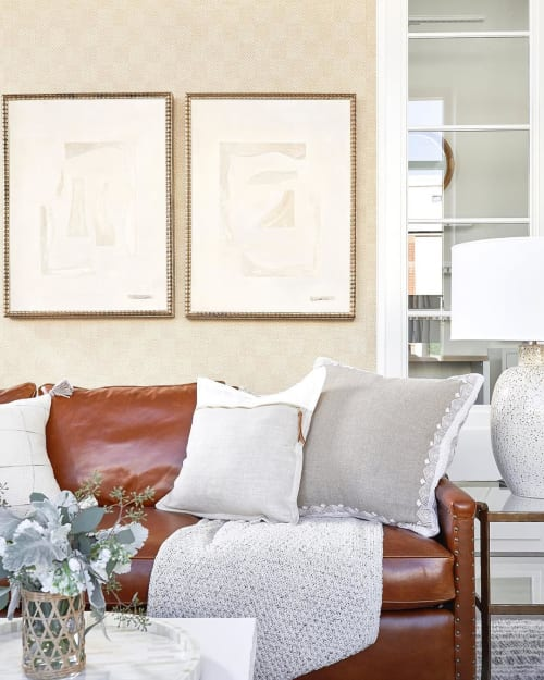 Paintings by Kerry Hays at Serena & Lily Design Shop, Dallas - Mono V & VI
