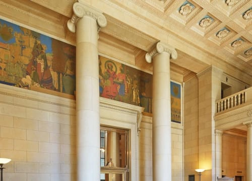 Murals by Jules Guerin seen at Bently Reserve, San Francisco - Trader's of the Adriatic