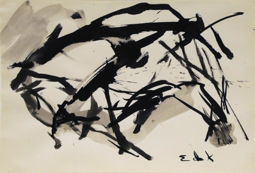 Paintings by Elaine de Kooning seen at University of California, Davis, Davis - Untitled Abstract Painting