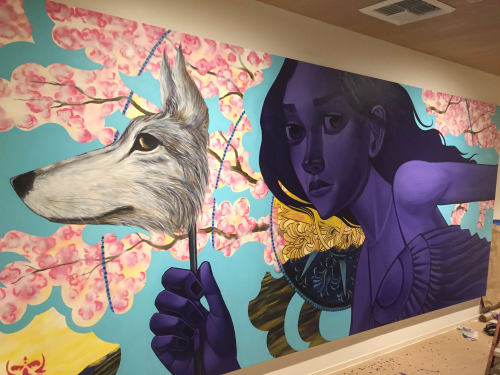 Murals by John Park seen at The Tower Burbank, Burbank - The Tower Murals 2015