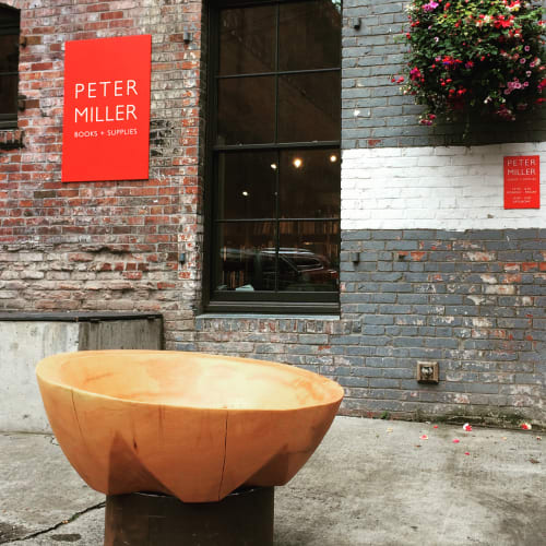 Sculptures by Joel Sayre seen at Peter Miller Architecture And Design Books, Seattle - Wooden Bowl