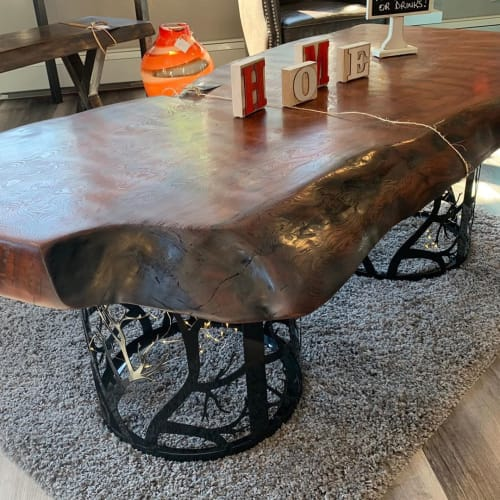 Tables by Kay Casey, Kay At Home seen at Creator's Studio, Burlington - Stunning Redwood Coffee Table