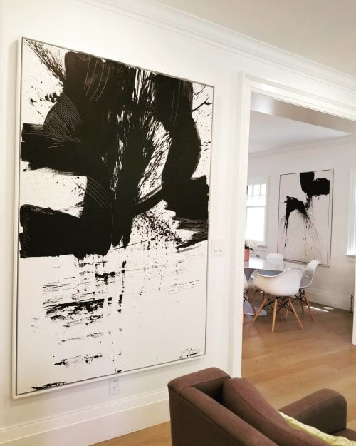 Paintings by Peter Triantos seen at Private Residence, Toronto - Black & White #33, #56