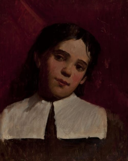 Paintings by Frank Duveneck seen at Mills College Art Museum, Oakland - Portrait of a Young Girl