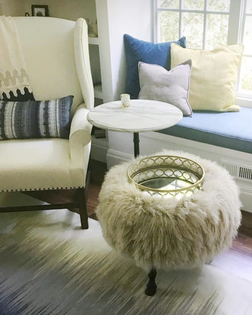 Benches & Ottomans by vanCollier seen at Private Residence, Halifax - wingback ottoman